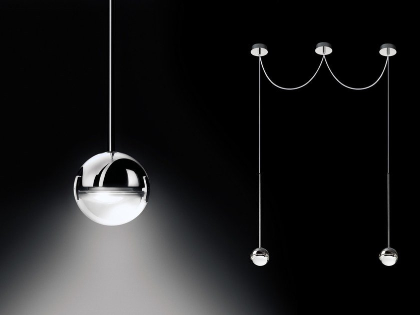 LED direct light pendant lamp CONVIVIO NEW LED SOPRATAVOLO DUE by Cini&Nils