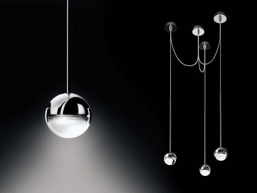 LED direct light pendant lamp CONVIVIO NEW LED SOPRATAVOLO TRE by Cini&Nils