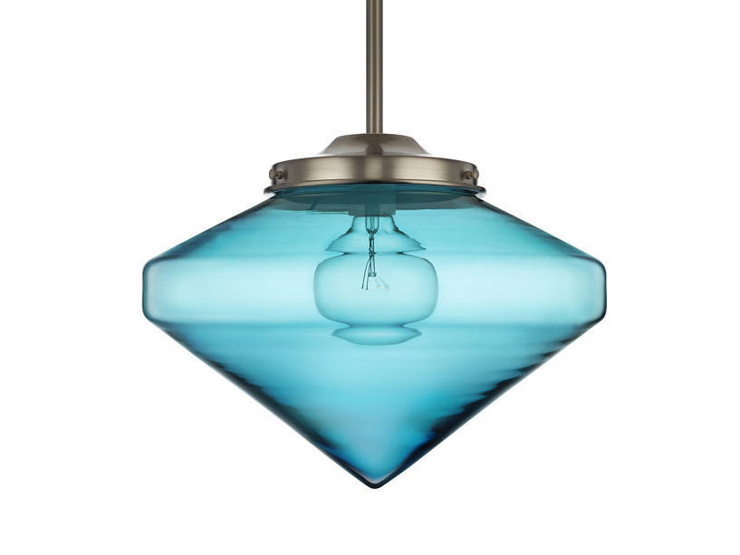LED handmade blown glass pendant lamp COOLHAUS by Niche Modern