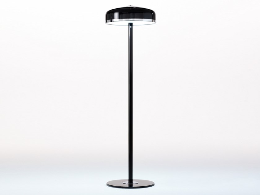 Handmade glass and aluminium floor lamp COOPER F by Luz Difusión