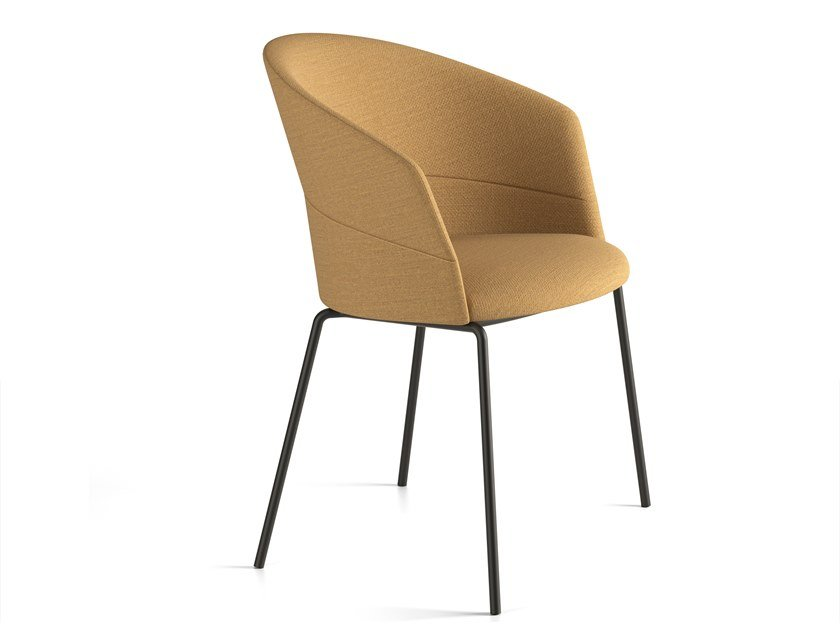 Upholstered fabric chair COPA   Chair by Viccarbe