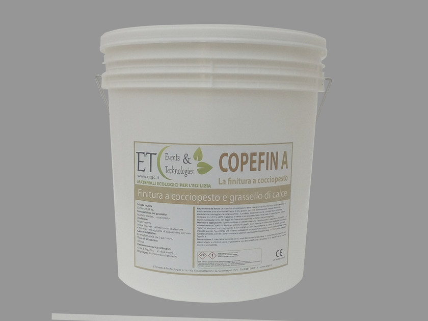 Breathable finish with earthenware powder and slaked lime COPEFIN by ET Events & Technologies
