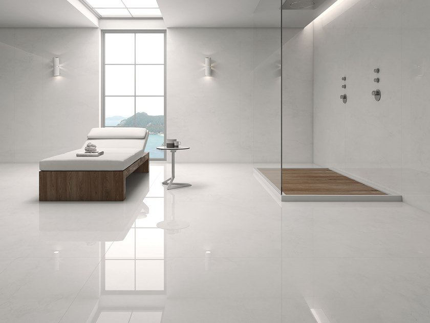 Sintered ceramic wall/floor tiles with concrete effect COPENHAGUEN by ITT Ceramic