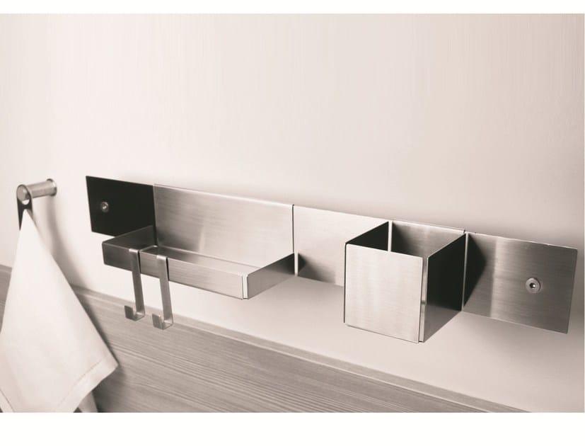 Stainless steel bathroom wall shelf EMME | Bathroom wall shelf by MINA