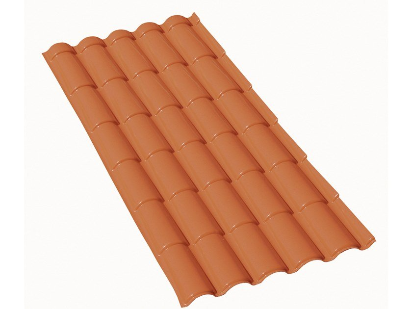 Composite panel for roof COPPO MATTONE by First Corporation