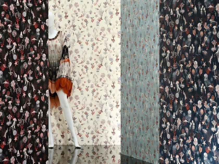 Woven vinyl wallpaper CORAIL by LELIEVRE