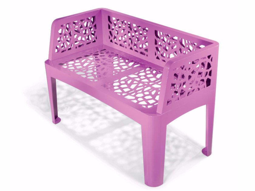 Bench with back CORAL BENCH by LAB23
