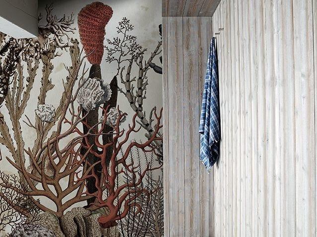 Motif bathroom wallpaper CORALFULL by Wall&decò