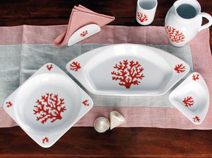 Ceramic tray CORALLO   Ceramic tray by Cerasarda