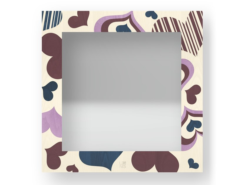 Specchio quadrato a parete con cornice CORAZÒN COLORS | Specchio by LIGNIS®