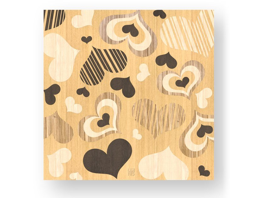 Quadro in legno intarsiato CORAZÒN WARM by LIGNIS®