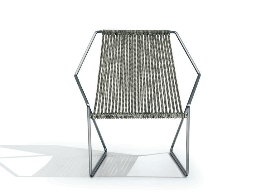 Sled base polyester easy chair CORDULA | Polyester easy chair by MissoniHome