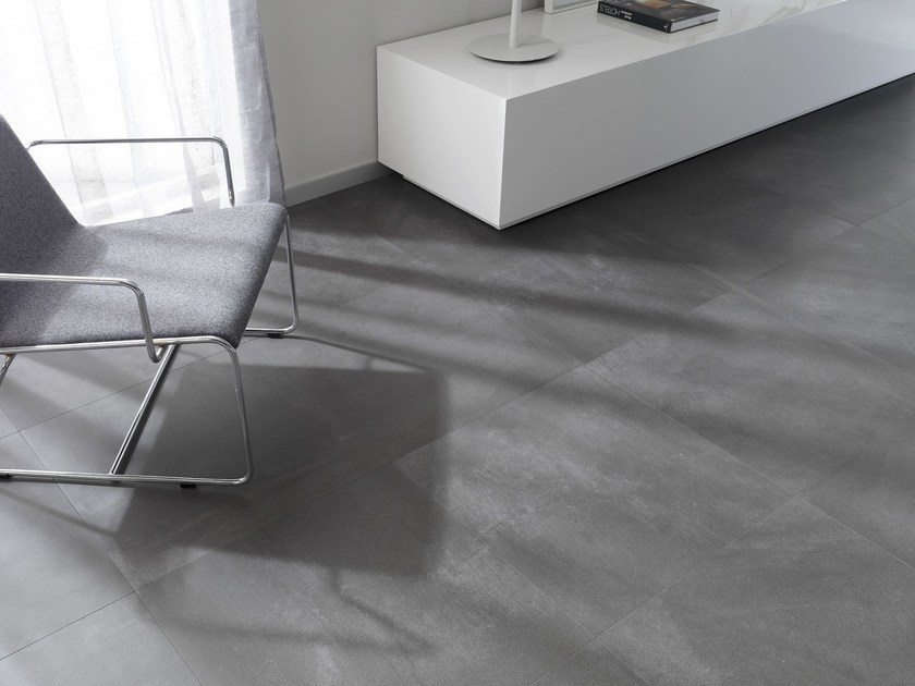 Porcelain stoneware wall/floor tiles with concrete effect CORE COAL by URBATEK