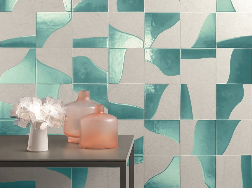 Indoor porcelain stoneware wall tiles CORE SEA by Ceramiche Caesar