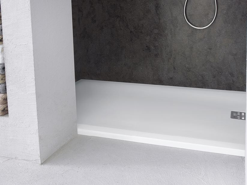 Flush fitting rectangular Corian® shower tray CORIAN® CASUAL by DuPont Protection Solutions
