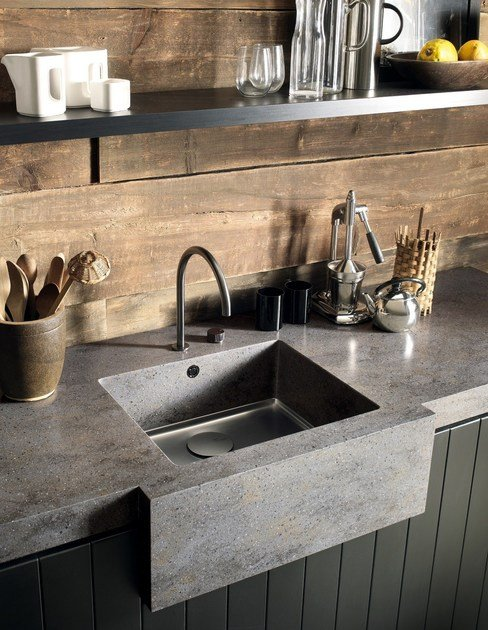 Single flushmounted Corian sink Corian SPARKLING By DuPont