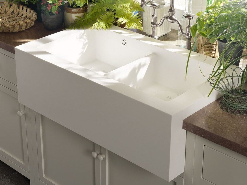 Lavello a 2 vasche in Corian® CORIAN® SALTY | Lavello a 2 vasche by DuPont Protection Solutions