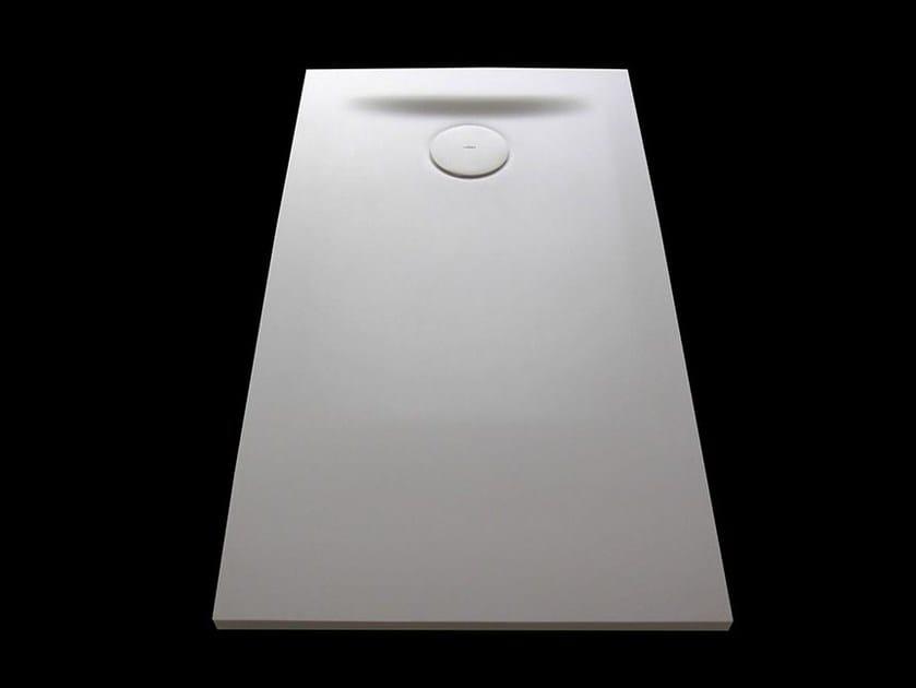 Rectangular Corian® shower tray Corian® shower tray by INBANI
