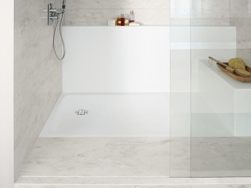 Piatto doccia filo pavimento rettangolare in corian corian smart