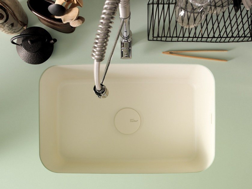 Evier 1 Bac Integre En Corian Corian Kitchen Sink Sweet By Corian