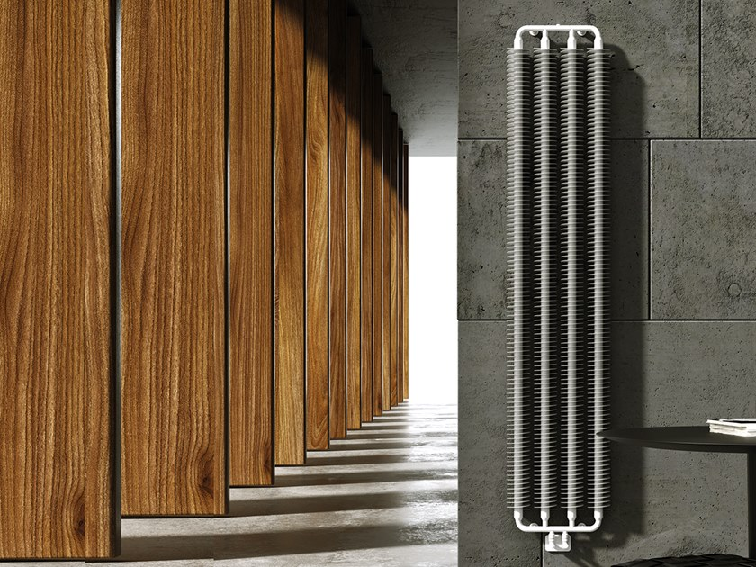 Vertical wall-mounted steel decorative radiator CORINNA by XÒ by Metalform
