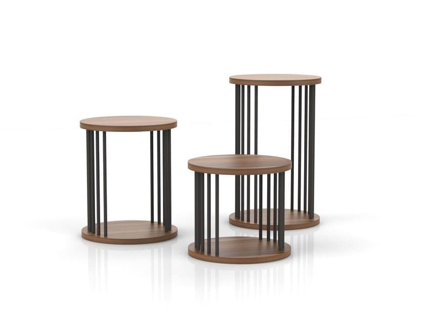 Round Wood Veneer Coffee Table CORINTH | Round Coffee Table By Tuna Ofis
