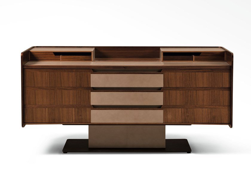 Wooden chest of drawers CORIUM | Chest of drawers by GIORGETTI
