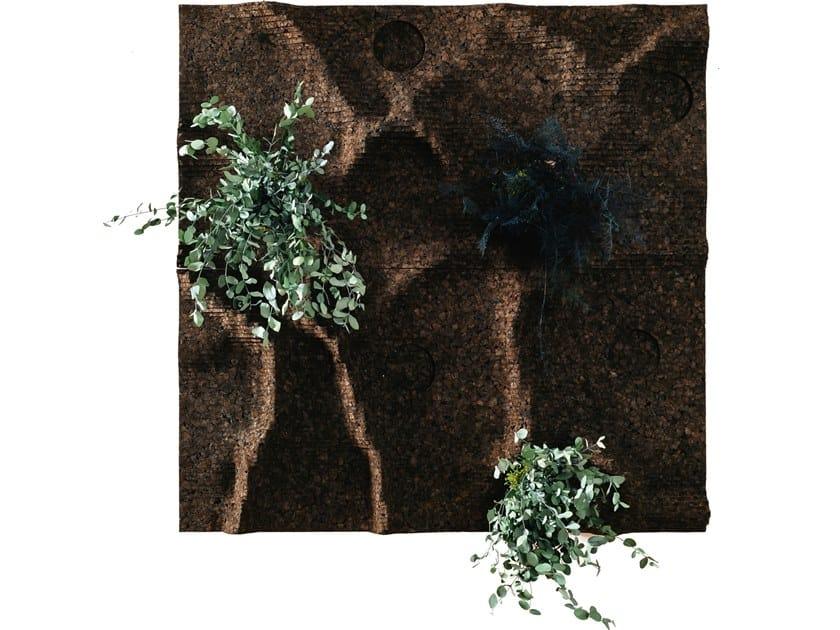 Ecological fireproof cork wall tiles CORKNATURE by GENCORK