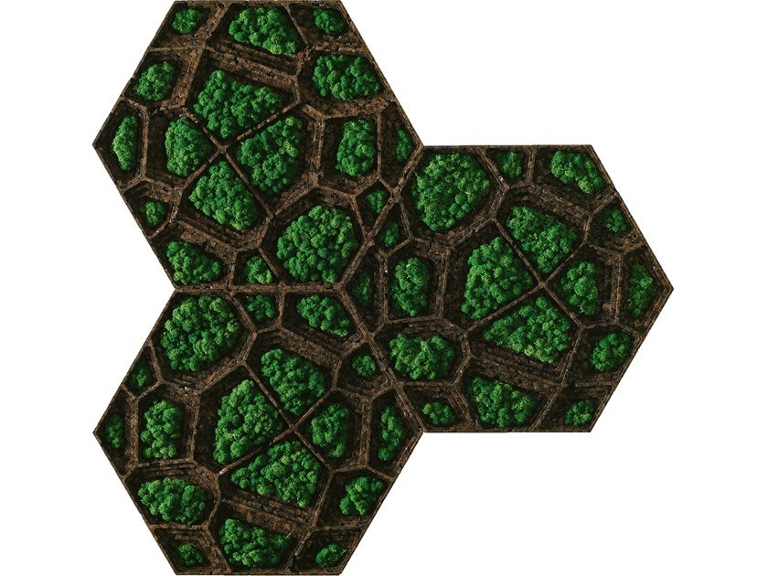 Ecological fireproof cork wall tiles CORKVOR by GENCORK
