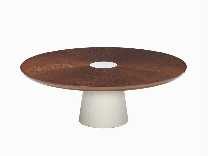 Round wooden coffee table CORNEILLE | Coffee table by HUGUES CHEVALIER