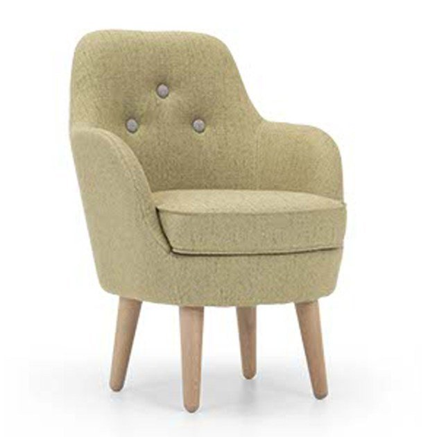 Upholstered fabric armchair CORNELL SMALL by Domingo Salotti