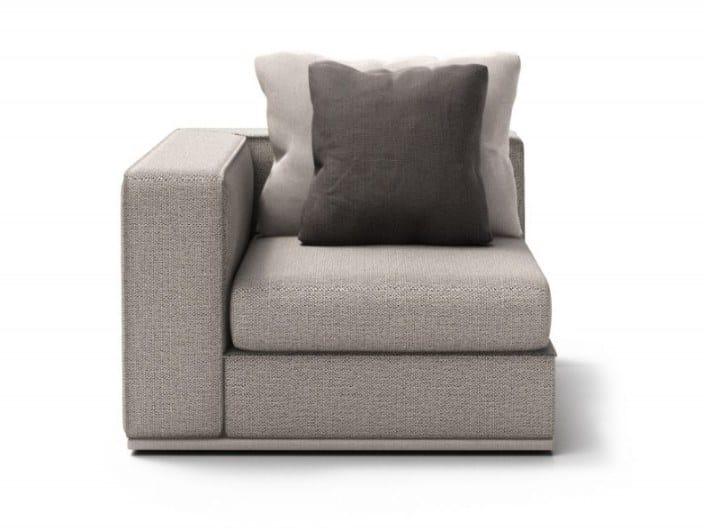 Corner fabric armchair with armrests CHELSEA | Corner armchair by Huppé