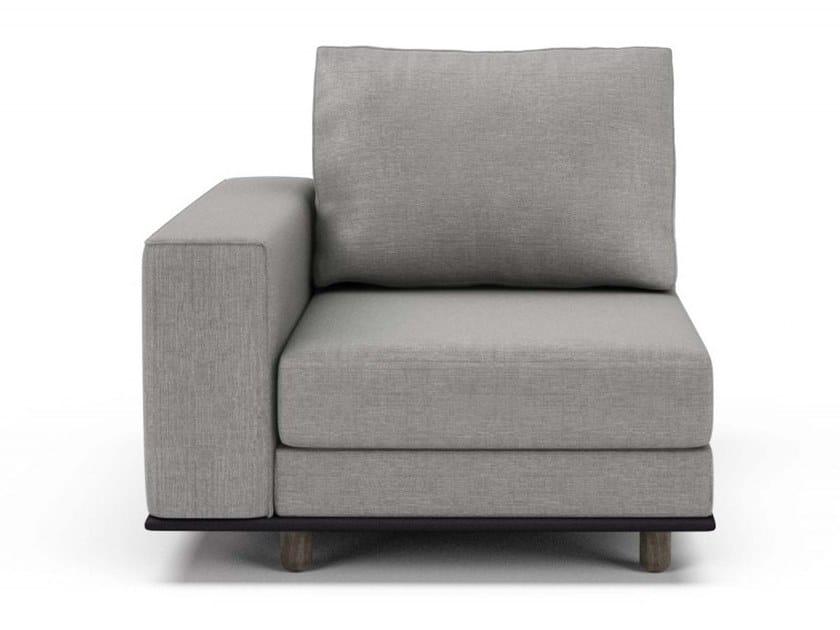 Corner fabric armchair with armrests EDITION   Corner armchair by Huppé