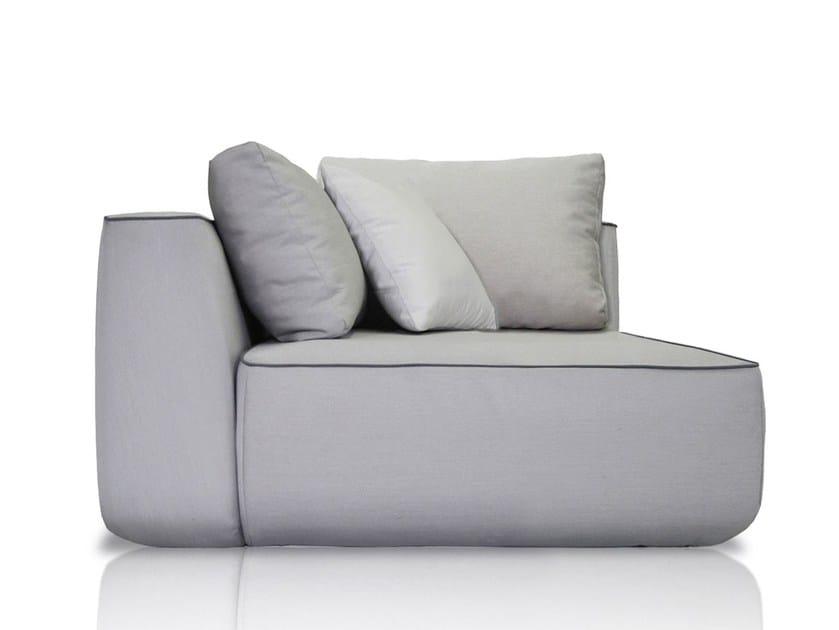 Corner upholstered fabric garden armchair PLUMP | Corner garden armchair by EXPORMIM