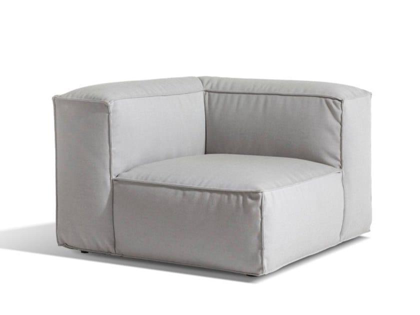 Corner upholstered Sunbrella® garden armchair ASKER | Corner garden armchair by Skargaarden