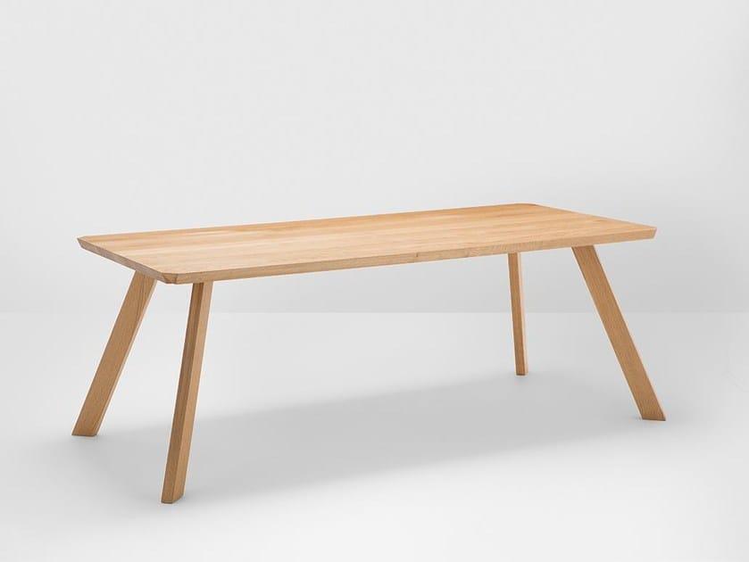 Tavolo da pranzo rettangolare in rovere CORNER   Tavolo in rovere by H Furniture