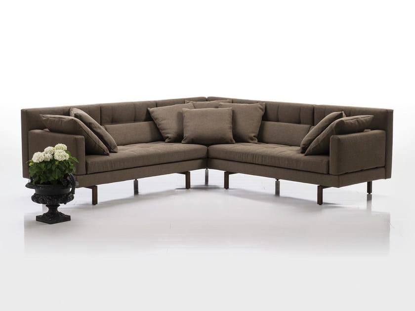 Corner recliner fabric sofa AMBER | Corner sofa by brühl