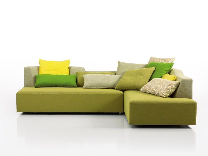 Corner fabric sofa LADYBUG-DREAM | Corner sofa by brühl