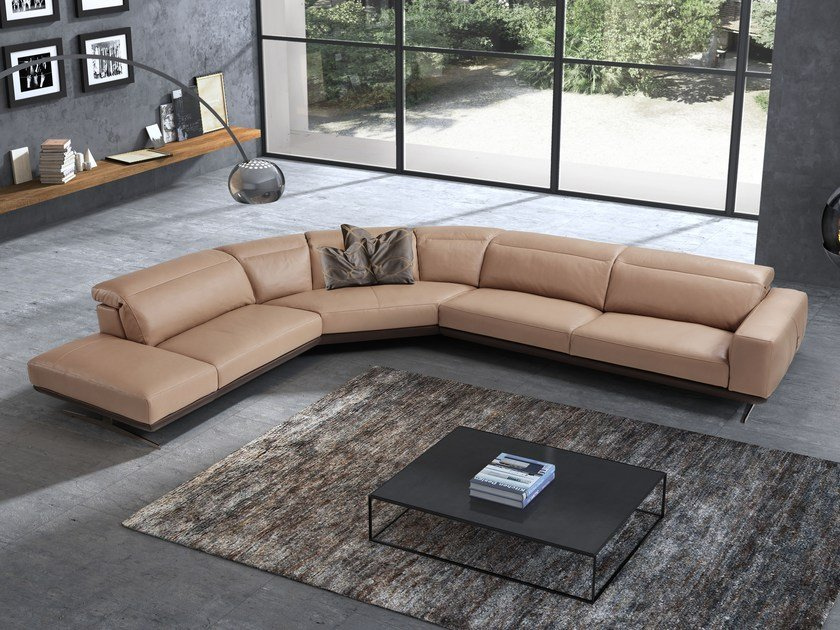 Corner leather sofa GLORIA | Corner sofa by Egoitaliano