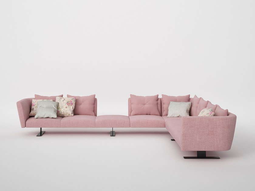 Corner fabric sofa with removable cover SAINT BARTH | Corner sofa by ESTEL GROUP