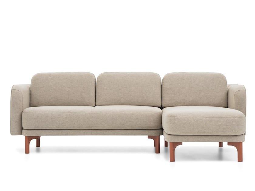 Modular fabric sofa with chaise longue LOOP | Corner sofa by Extraform