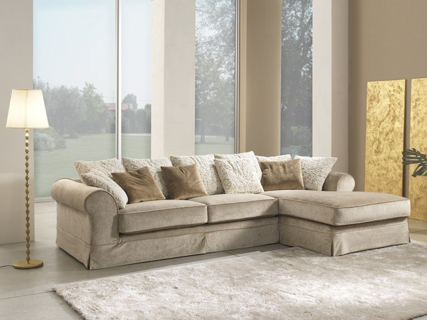 Corner fabric sofa with chaise longue BABILONIA | Corner sofa by Gold Confort