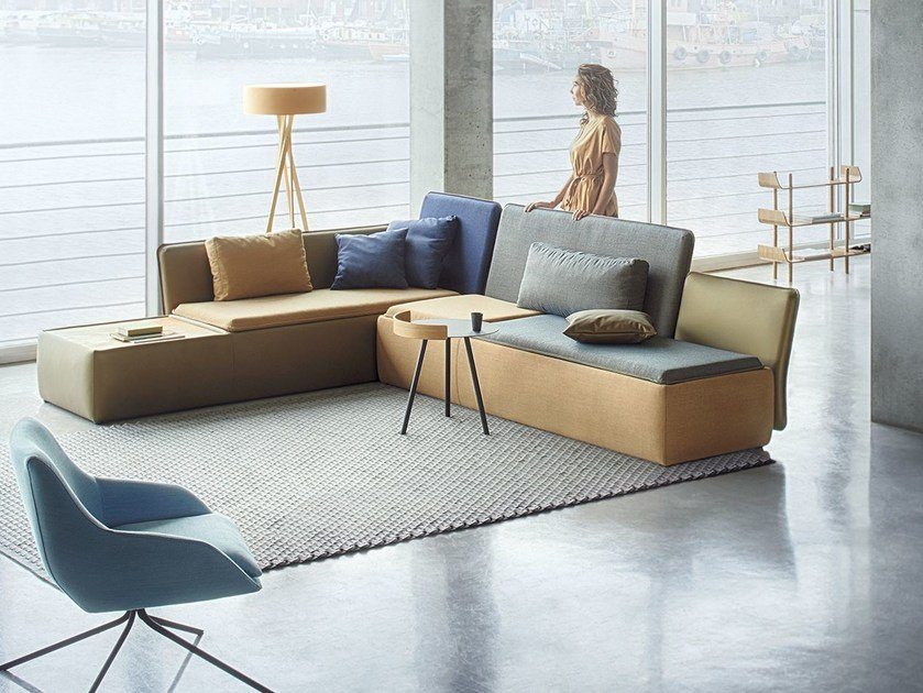 Corner fabric sofa STREAM | Corner sofa by Palau
