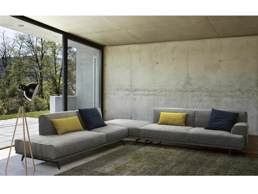 Corner modular fabric sofa SIXTY | Corner sofa by Papadatos
