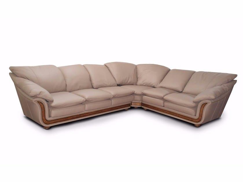 7 seater corner leather sofa CORNICHE | Corner sofa by Nieri