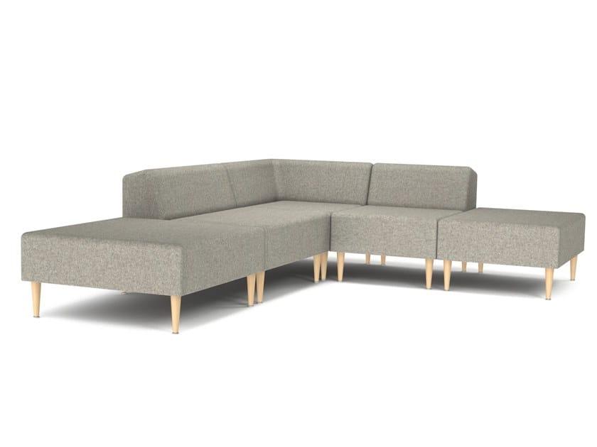 Corner sectional fabric sofa MOOD | Corner sofa by OOT OOT