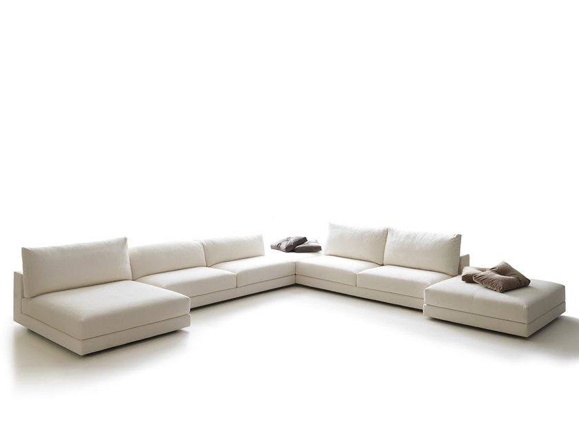Corner sectional fabric sofa WILLIAM | Corner sofa by VALENTINI