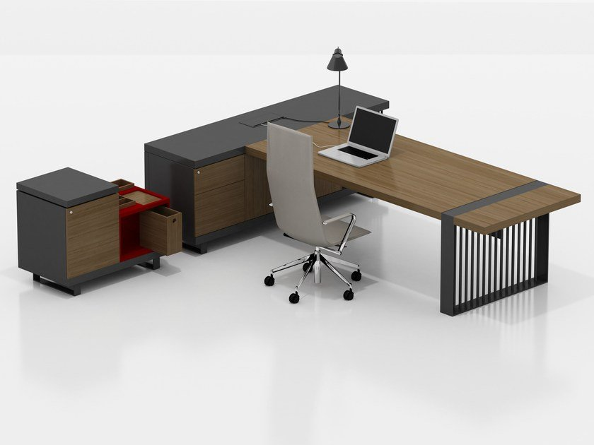 Executive desk with shelves CORINTH | Executive desk by Tuna Ofis