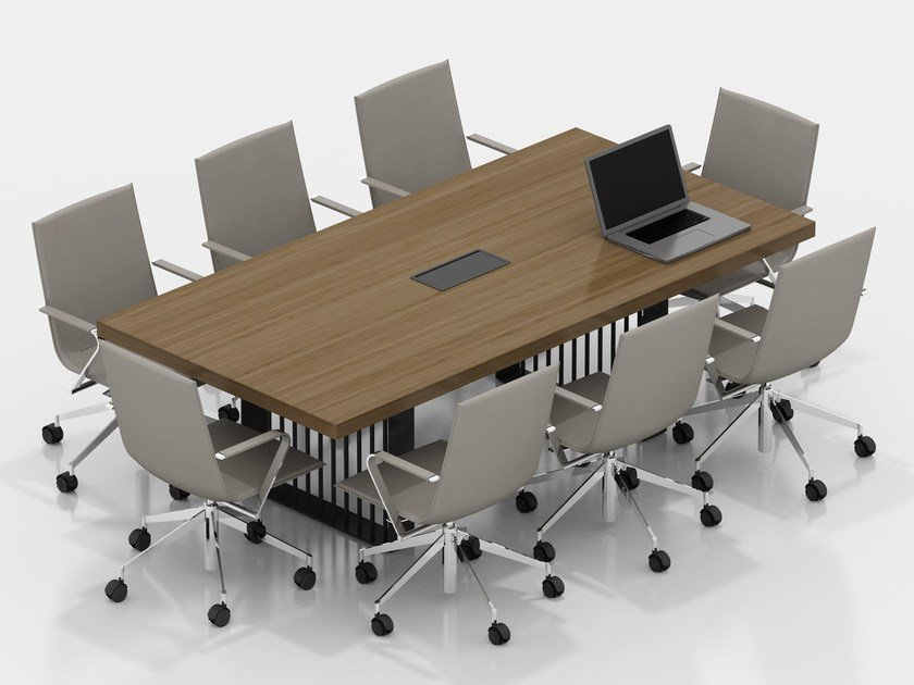 Rectangular wood veneer meeting table CORINTH | Meeting table by Tuna Ofis