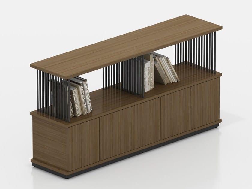 Modular wood veneer office storage unit CORINTH   Office storage unit by Tuna Ofis